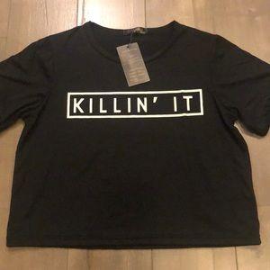 """""""Killin' It"""" black t-shirt (L)"""